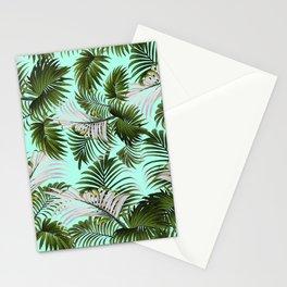 Tropical Leaf Pattern II Stationery Cards