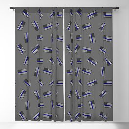 Police Flag Pattern Blackout Curtain