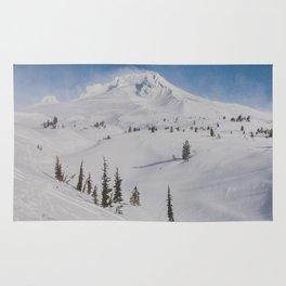 Snowy Mount Hood Rug