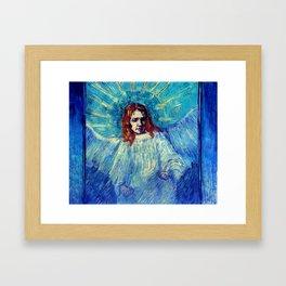 """Vincent van Gogh """"Half-figure of an Angel (after Rembrandt)"""" Framed Art Print"""