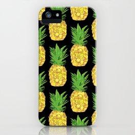 Pineapple Pop Black iPhone Case