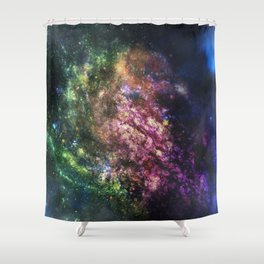 Rainbow Nebula Shower Curtain