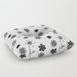 flowers on white background . Art Floor Pillow