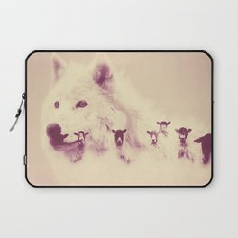 Wolf and sheeps Laptop Sleeve