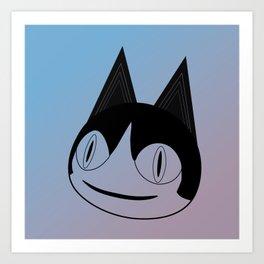 Animal Crossing - Rover (Line Art) Art Print