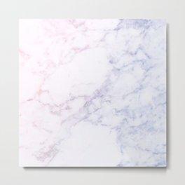 marble love; Metal Print