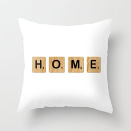 Scrabble - Home Throw Pillow