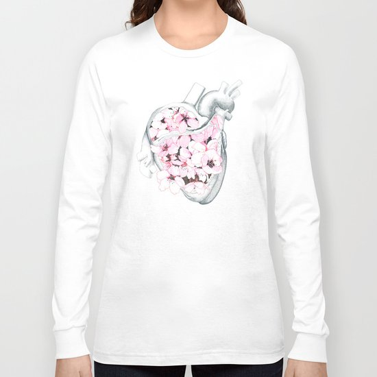 Blossom Burst Heart Long Sleeve T-shirt