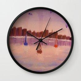 Harbour Buoys Wall Clock
