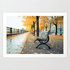 A lonely day for a walk Art Print