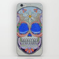 calavera iPhone & iPod Skins featuring Calavera by Jared Bretholtz