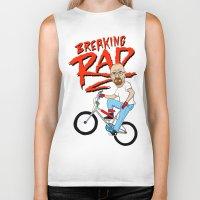 breaking Biker Tanks featuring Breaking Rad by Chris Piascik