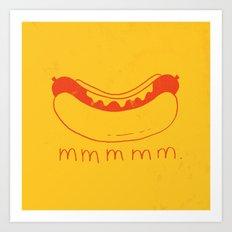 Hot Dog Art Print
