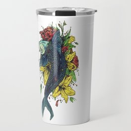 fish watercolor Travel Mug