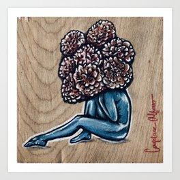 Flower for brains Art Print