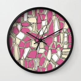 BROKEN POP pink Wall Clock