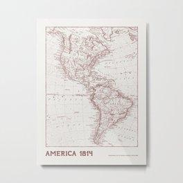 Vintage map of America Metal Print