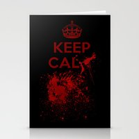 keep calm Stationery Cards featuring Keep calm? by Eveline