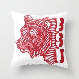 BSU Bear by Anthony Abi-Saad Throw Pillow