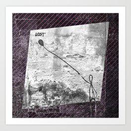 Lost - stripe graphic Art Print