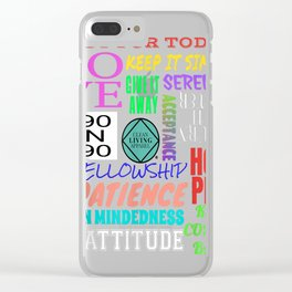 Spiritual Principles Narcotics Anonymous Gift T Shirts NA AA Clear iPhone Case