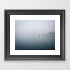 fog + ships Framed Art Print