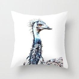 Luminous Emu Art Throw Pillow