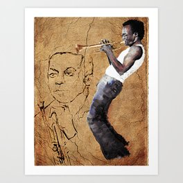 The Man With the Horn Art Print
