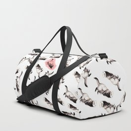 Ferret pattern Realistic Duffle Bag