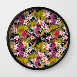 tropical lilly Wall Clock
