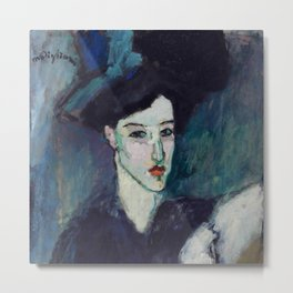"Amedeo Modigliani ""The Jewess"" Metal Print"