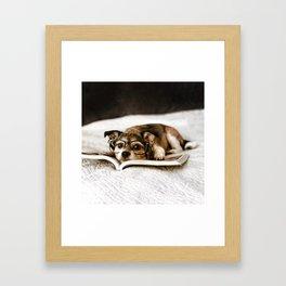 Nerd Dog Framed Art Print