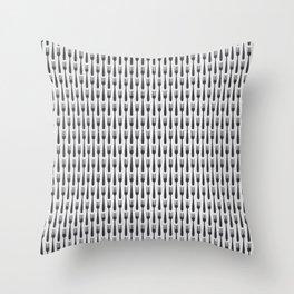 Kitchen Cutlery Fork Throw Pillow