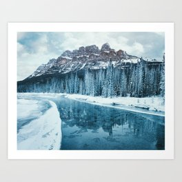 Frosty Morning at Castle Mountain Art Print