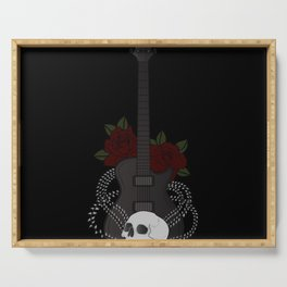 Skull and Guitar Serving Tray