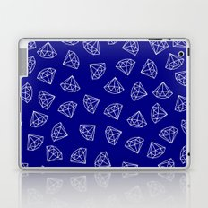 Navy Blue Diamond Pattern Laptop & iPad Skin