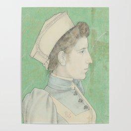 Portrait of Nurse Nelly, Jan Toorop, 1894 Poster