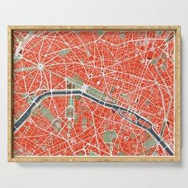 Paris city map classic Serving Tray