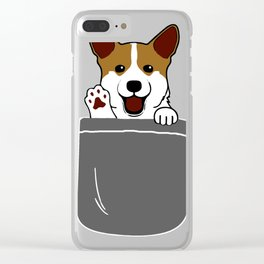 pocket dog Clear iPhone Case