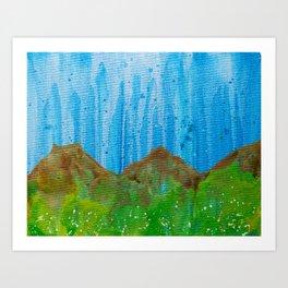 Rain on the Rockies Art Print