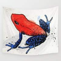frog Wall Tapestries featuring Frog by Jacob Haynes