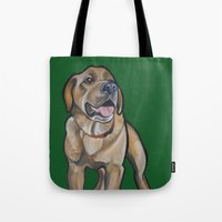 harry Tote Bags featuring Harry by Pawblo Picasso