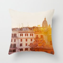 Piazza di Spagna - Rome Italy Photography Throw Pillow