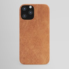 Farmhouse Style Original Camel Leather Oriental Design. iPhone Case