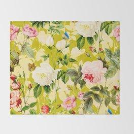 Botanic Floral Throw Blanket