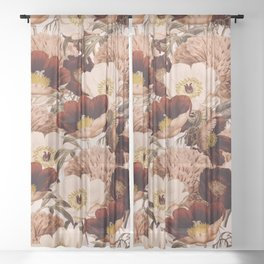 Vintage Garden 2 #society6 Sheer Curtain