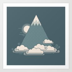 Cloud Mountain Art Print