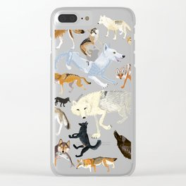 Wolves of the world 1 Clear iPhone Case