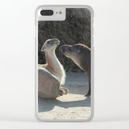 Who I am with you Clear iPhone Case
