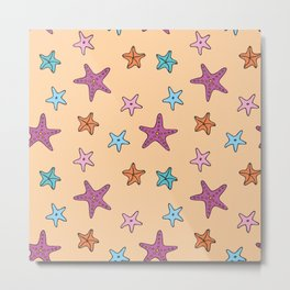 Starfish AOP Metal Print